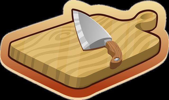 prkénko a nůž