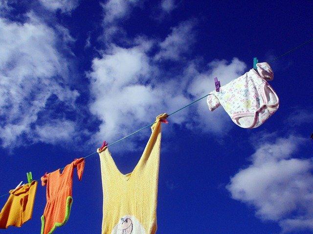 prádlo na šňůře
