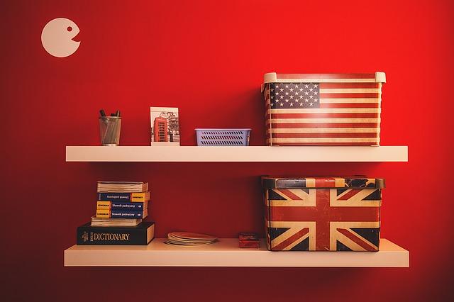 Anglie a Amerika na poličce
