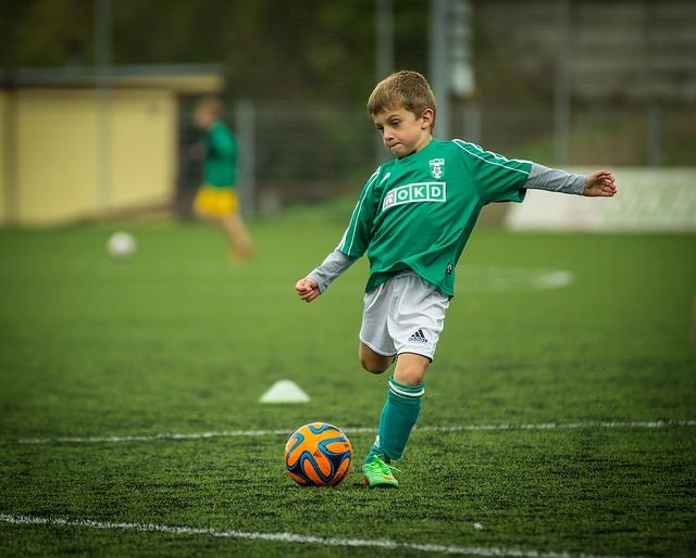 dítě fotbalista