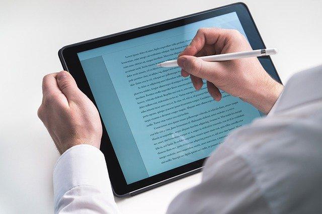 psaní do tabletu